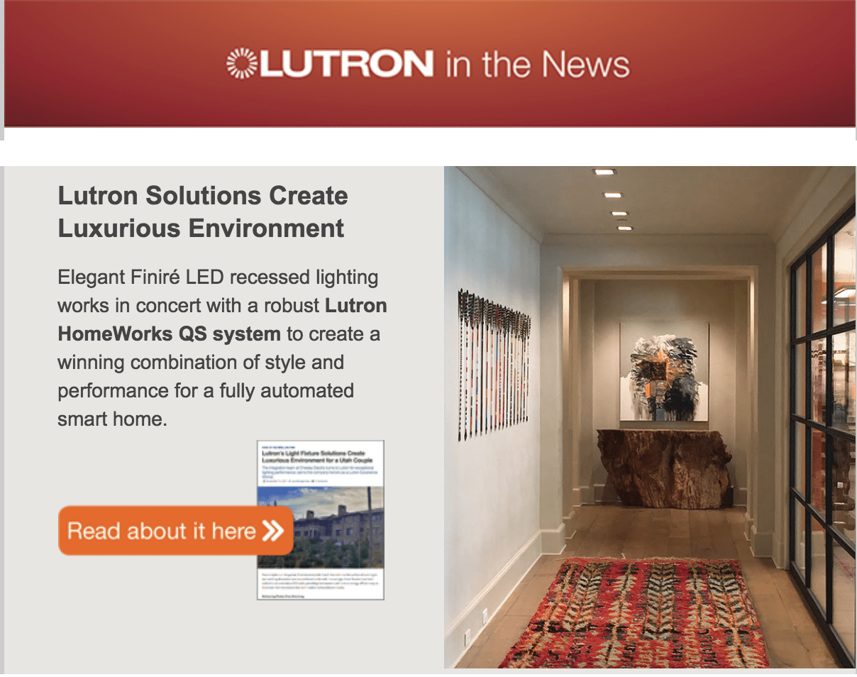 Lutron's Light Fixture Solutions Create Luxurious Environment for a Utah Couple